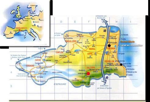 plan Accés Aloha camping Club Amélie les Bains