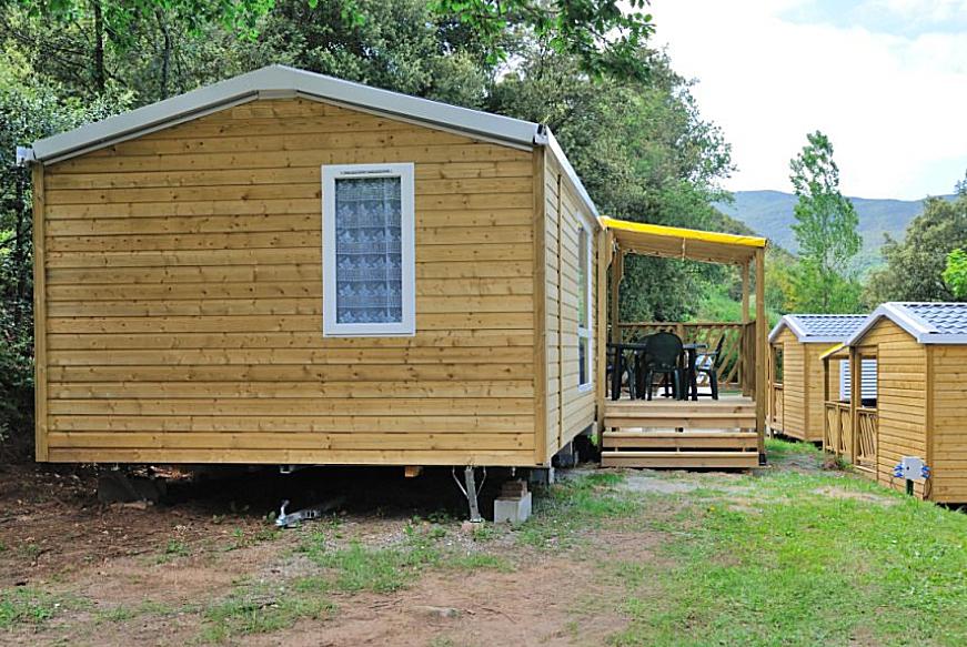 Chalet Mobilhome en bois Loggia - Aloha-camping-club